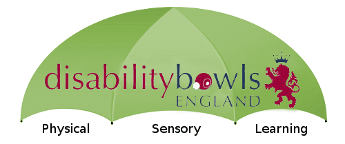 Disability Bowls England umbrella for Physical, Sensory and Learning