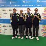Barry Nicholson, Gemma Woodhead, Steven Nicholson and Lucas Manousios, Silver Medalists Team Event