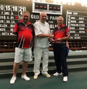 Runners up Gary Swift and John Rogers
