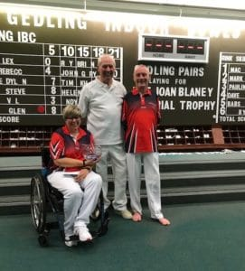 Joan Blaney Trophy Winners 2018 - Helen Wood and Bob Love, Bill Blaney Sponsor