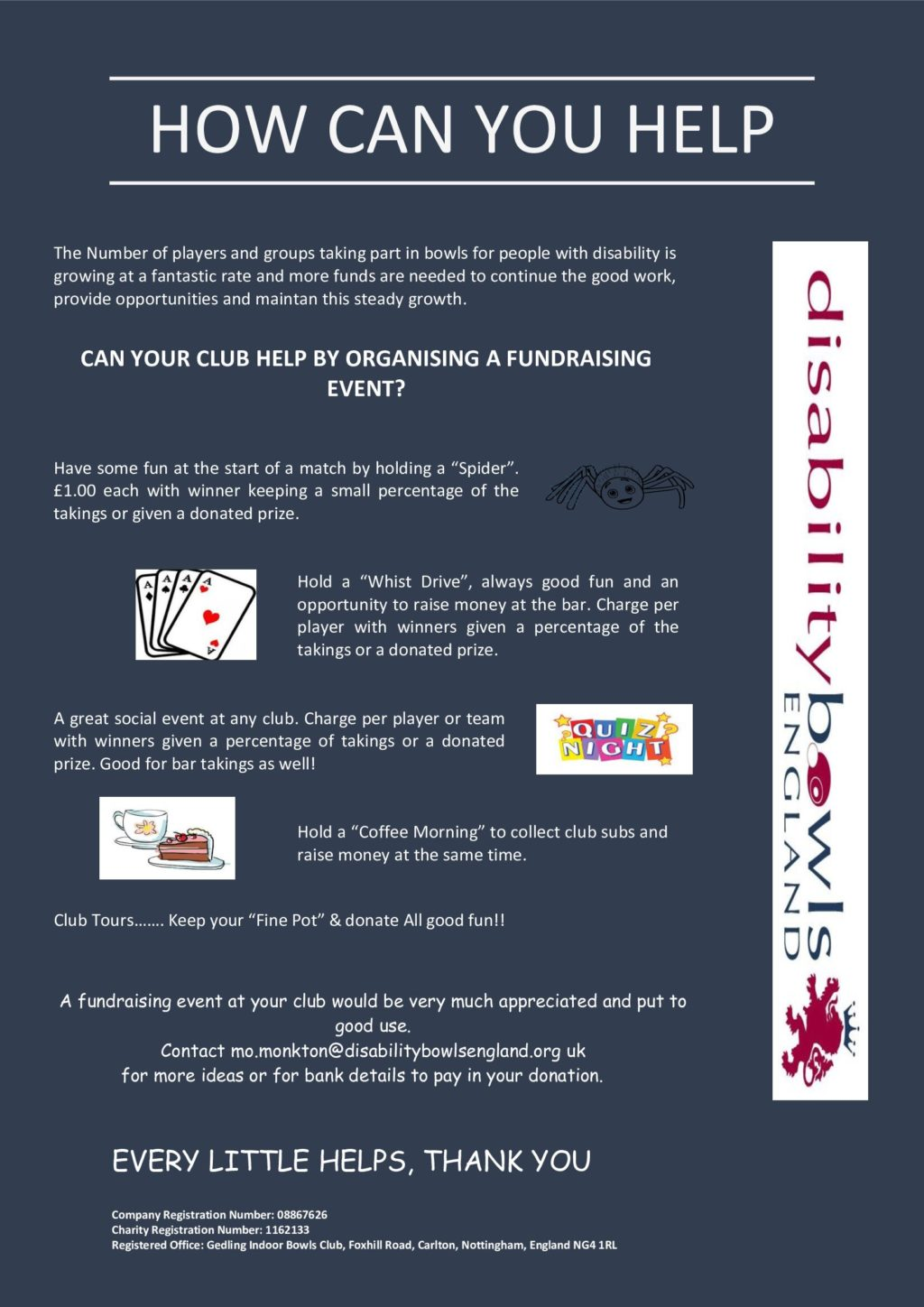 Fund Raising For Dbe Disability Bowls England
